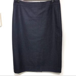 "J Crew Factory ""The Pencil Skirt"" Blue EUC 6"